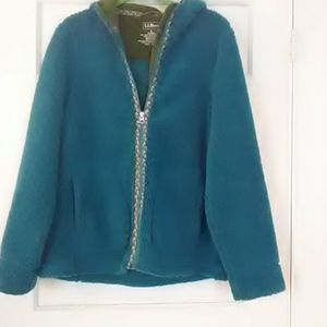 Women's L.L.Bean unlined fleece jacket.